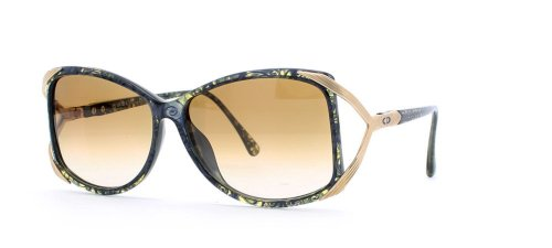 Christian Dior 2606 50 Black and Blue Authentic Women Vintage - Dior Sunglasses Retro