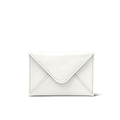 Cuir Plate Lisse Blanc Cartes Pochette Noir Lucrin Pour nUqT1w6x