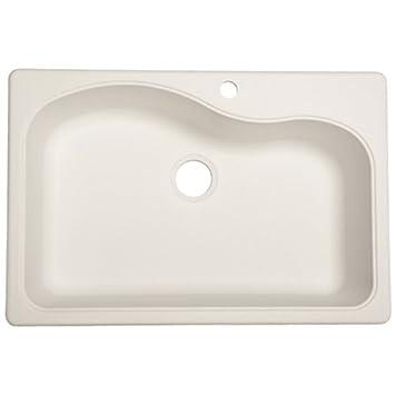 Franke Gravity 33u0026quot; Dual Mount Granite Single Bowl Kitchen Sink, White