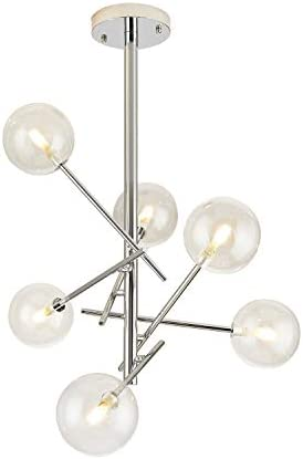 Dellemade Sputnik Chandelier 6-Light Ceiling Light Globe Pendant Lamp