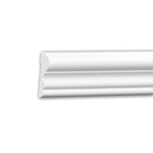 Panel Moulding 151400 Profhome Dado Rail Decorative Moulding Frieze Moulding Timeless Classic Design White 2 m ()