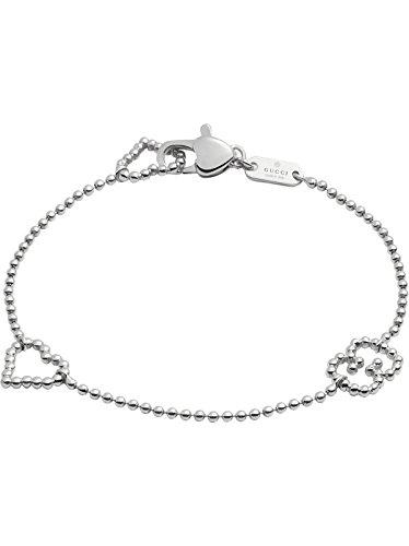 Gucci Women's Boule Bracelet w/ Open Heart Motif Silver 18 cm (7 - Gucci Guide Size