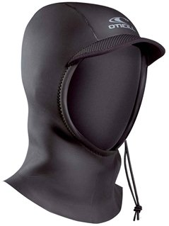 O'Neill Wetsuits Mens 3 mm Hyperfreak Coldwater Hood, Black, Small