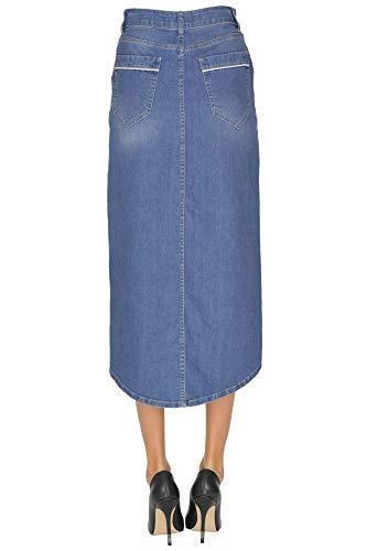 Peperosa Bleu Coton Mcglgnn000005041e Jupe Femme TTwAqxzv
