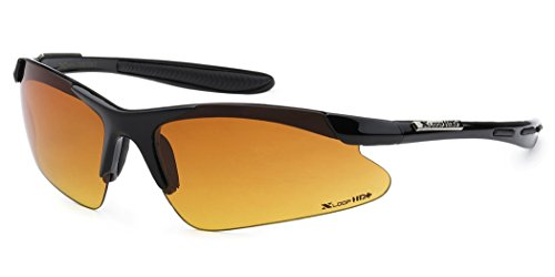 Half Frame Sport X-Loop HD Vision Sunglasses - Black ()