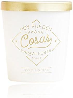Mr. Wonderful Vela Hoy Pueden Pasar Cosas maravillosas, Cristal, Blanco, 8.00x5.00x9.00 cm: Amazon.es: Hogar