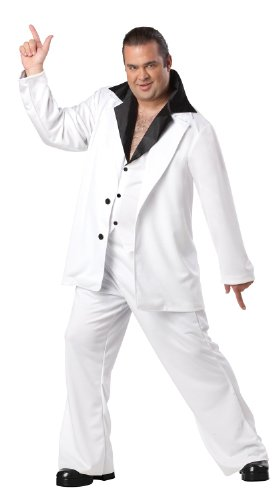 [Saturday Night Fever Plus Size 48-52] (Saturday Night Fever Costume For Adults)