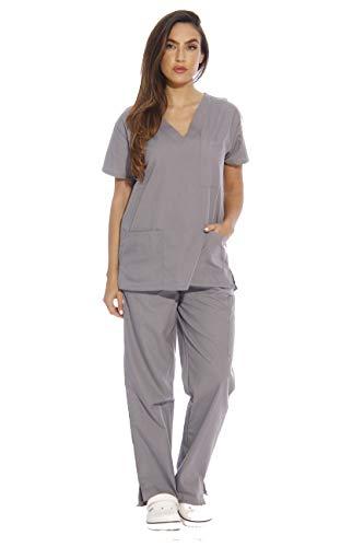 Just Love 22251V-M Light Grey Women's Scrub Sets/Medical Scrubs/Nursing Scrubs