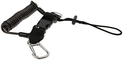 ステンレス鋼製 安全 コイル クイック リリース バックル スキューバ ダイビング ストラップ 金属 スナップ クリップ 高強度