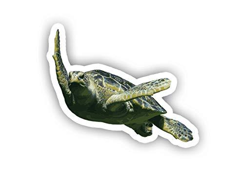 Turtle Swimming Car Decal Vinyl Sticker - Vinyl Decal - Car, Bumper, Laptop, Decor, Window Vinyl Decal Sticker - (4