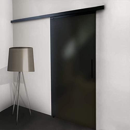 Inova - Puerta corredera de Cristal, 900 x 2035 mm, Superficie Satinada, Cristal Gris, Juego Completo de 8 mm, Cerradura Suave: Amazon.es: Hogar
