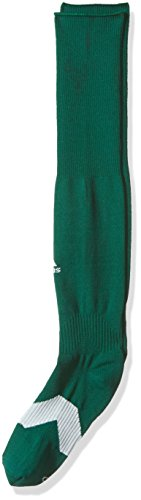 (adidas Metro IV Soccer Socks (1-Pack), Collegiate Green/White/Clear Grey, Medium)