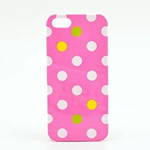Piaopiao Pink Color with Colorful Little Design Cover Hard Back Case for iPhone 5/5S