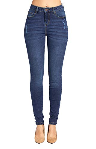 Blue Age Women's Distressed Denim Well Stretch Skinny Jeans (JP1080A_MD_3)