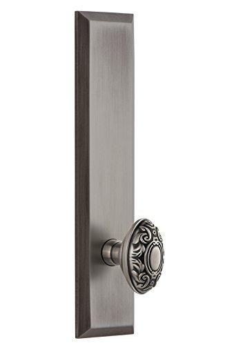 Grandeur 802847 Hardware Fifth Avenue Tall Plate Grande Victorian Knob Size, Passage-2.375