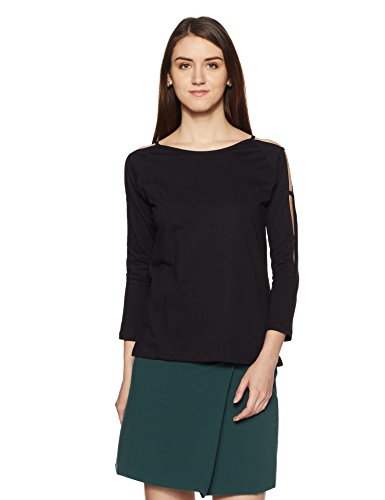 Miss Chase Women's Full Sleeves Round Neck Solid Top
