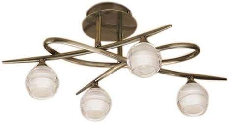 Mantra 1823 Loop - Lámpara de techo (G9, 230 V, latón): Amazon.es ...