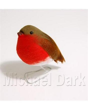 Fat Robin Redbreast Christmas Decoration (9cm): Amazon.co.uk ...