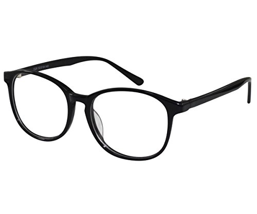 Ebe Glasses Men Women Black Round Full Coverage Hand Made Nerdy Circular - Prescription Glasses Sell Your