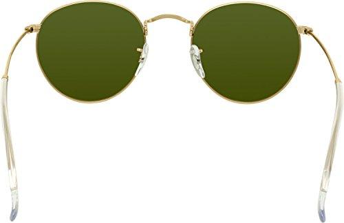 de METAL sol Flash Ban las de plata mate Ray de de gafas ROUND plata 174waUq