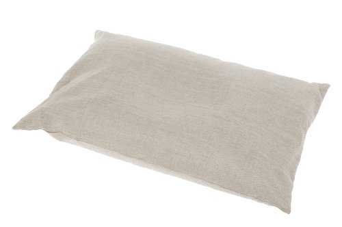 Grain Dreams Brand Pillow 23.5 x 15.5 with Buckwheat Filling, Flax Linen Cover, Removable, Washable.