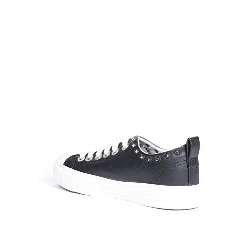 Ideal Shoes Baskets Basses en Similicuir Incrustées de Clous Marianne Noir 3PbNsmPyUl