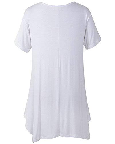 Di Elegante Camicetta Camicette Corta Monocromo Top Qualit Mare Ragazza Moda Manica Di Irregular Basic Donna Estivi Rotondo Shirt Collo Moda Vestono T Vestiti Mini Alta HHqwxrz05