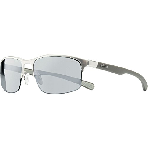 Revo Fuselight RE 1016 03 GY Polarized Rectangular Sunglasses, Chrome Graphite, 58 - Sunglasses Graphite