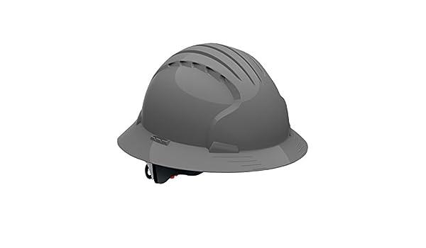 Evolución Deluxe - 6161 280-ev6161 V-40 Full borde duro protector con ventilación con trinquete suspensión, gris por evolución Deluxe - 6161: Amazon.es: ...