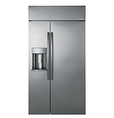 GE Profile PSB42YSKSS Built-in Side-by-Side Refrigerator with 24.3 cu. ft. Capacity in Stainless Steel