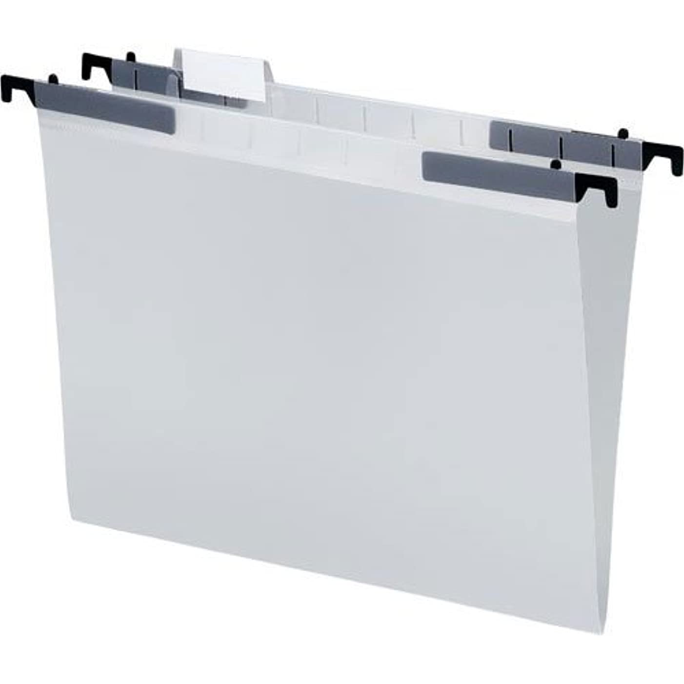 リマーク化合物シングル(Gray.) - Smead File Folder, Reinforced 1/3-Cut Tab, Letter Size, Grey, 100 per Box (12334)