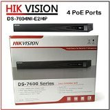 HIKVISION DS-7604NI-E1/4P 4CH PoE NVR Network Video Recorder