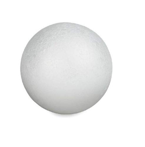 Craft Foam Ball - Smooth Styrofoam Polystyrene Balls for Craft and Project (5'' - 12 Balls)