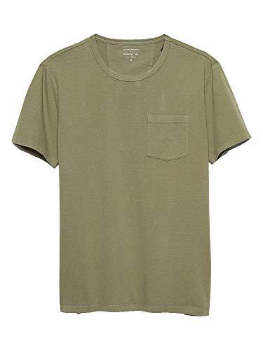 Banana Republic Mens Garment Dye T Shirt, Green (XL) (Tshirt Banana Republic Men)