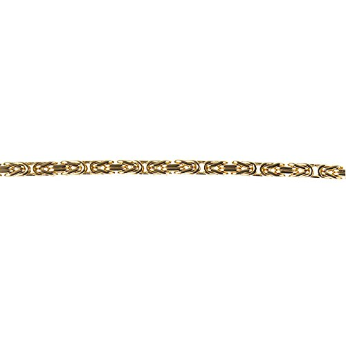 14k Necklace Bizantine Byzantine Basket-weave in Yellow Gold Choice of Lengths 41 46 51 61 76 and 4mm