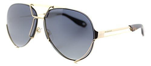 Givenchy GV 7014 J5G Gold Sunglasses Interchangeable Grey Gradient & Green - Green Givenchy