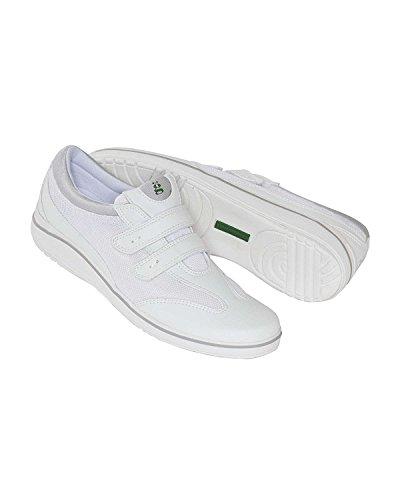 Grasshoppers Women's Stretch Plus Velcro Sneaker,White,7.5 W