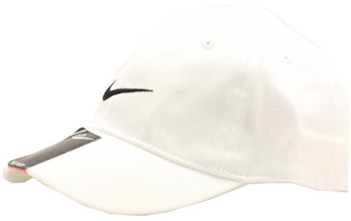 Nike 2T-4T Embroidered Swoosh Baseball Cap (White)