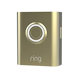 Ring Video Doorbell 3 and Ring Video Doorbell 3 Plus Faceplate - Gold Metal
