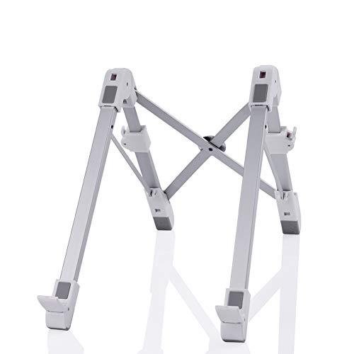 Laptop Stand, Foldable Adjustable Notebook Stands for Computer PC Tablet MacBook, Portable Ergonomic Riser Laptop Holder Table Stand for Bed Desk +1Pcs USB Light by EVILTO