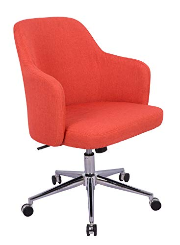 AmazonBasics Classic Adjustable Office Chair – Twill Fabric, Brick Red