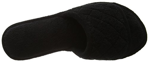 Dearfoams Slide - Pantuflas Mujer Black (Black)
