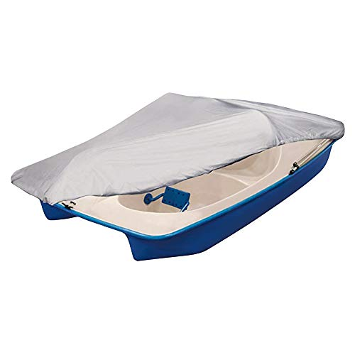 iCOVER Pedal Boat Cover- fits 3 or 5 Person Pedal Boat up to 112.5'(L) 48'(W) Water Proof Heavy Duty PB5103,Silver Color.