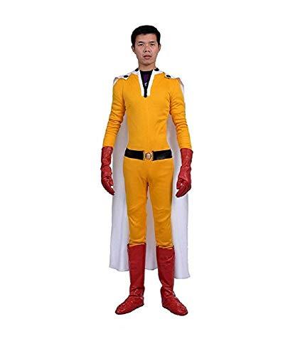 SSJ Japanese Anime Superman One Punch Man Saitama Cosplay Costume Complete set (Asian-XL) ()