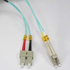 Full Duplex Router (InstallerParts 1.5m LC-SC 10Gb 50/125 OM3 M/M Duplex Fiber Cable Aqua Jacket)