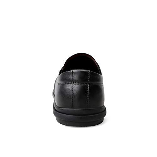 Zapatillas De Punta Caminar Marrón Blanco Calzado Mocasines Negocios Y Conducción Informales Cordones Para En Sin Calzados Hombres Negro Cuero Yan zapatos Zapatos 8BFqw