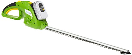 SereneLife Cordless Hedge Trimmer, Electric Trimming Hedger for Trees, Shrubs, Plants, Bushes 18 Volt (PSLHTM36)