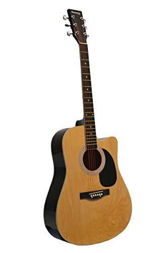 Full Size Natural Cutaway Acoustic Guitar - & DirectlyCheap