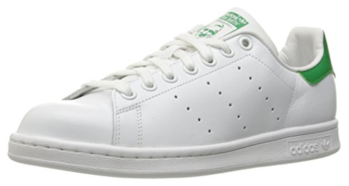 adidas Originals Women's Stan Smith W Fashion Sneaker, White/White/Fairway, 7.5 M - Socks Stripe Head