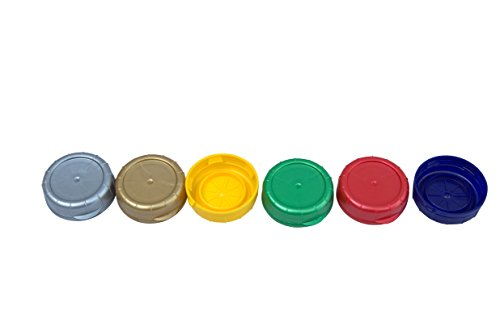 Multi Color Easy ID Caps for Glass Milk Bottles 48 MM (6, Multi Color) (Plastic Milk Bottles With Caps compare prices)